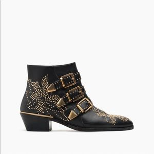 Shoes - Chloe Susanna black gold studded ankle boots